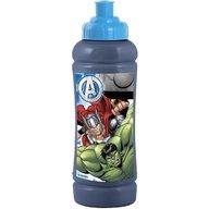 Lulabi - Sticla apa plastic Avengers, Albastru