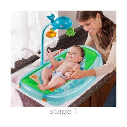 Summer Infant-09256-Set cadita suport de baita si bara de jucarii Ocean Buddies – Blue