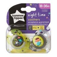 Tommee Tippee - Suzeta ortodontica de noapte, ONL, 2 buc, 18-36 luni, Planete verzi
