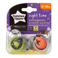 Tommee Tippee - Suzeta ortodontica de noapte, ONL, 2 buc, 6-18 luni, Planete verzi