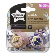 Tommee Tippee - Suzeta ortodontica Moda, 2 buc, 18-36 luni, Fluture roz