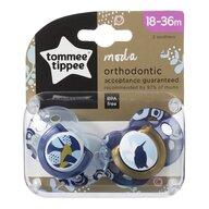 Tommee Tippee - Suzeta ortodontica Moda, 2 buc, 18-36 luni, Pasare albastra