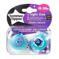 Tommee Tippee - Suzete ortodontice de noapte, 18-36 luni
