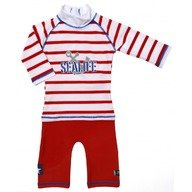 Costum de baie SeaLife red marime 86- 92 protectie UV Swimpy