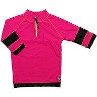 Tricou de baie pink black marime 122- 128 protectie UV Swimpy