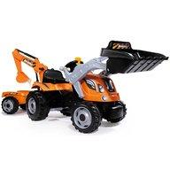 Smoby - Tractor cu pedale si remorca Builder Max