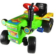 Super Plastic Toys - Tractor cu pedale Turbo, Green