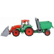Lena - Tractor cu remorca Truxx pentru copii, Verde/Rosu