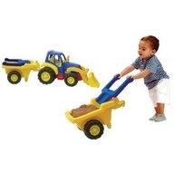 Miniland - Tractor cu remorca roaba