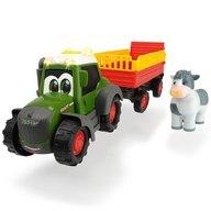 Dickie Toys - Tractor Happy Fendt Animal Trailer cu remorca si figurina
