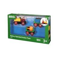 BRIO - Tren din lemn , Cu baterii