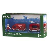 BRIO - Tren din lemn De calatori , Reincarcabila