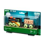BRIO - Tren din lemn Fantoma , Lumineaza in intuneric