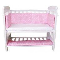 Treppy - Set aparatori si cersaf pentru pat cosleeper Dremy Mini  Sweet Stars Pink