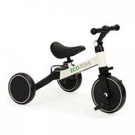 Ecotoys - Tricicleta YM-BB-6 ,  4 in 1, Cu pedale detasabile, Alb