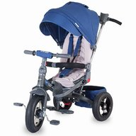 Tricicleta COCCOLLE Corso multifunctionala roti cauciuc albastru