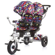 Chipolino - Tricicleta gemeni Tandem Multicolor