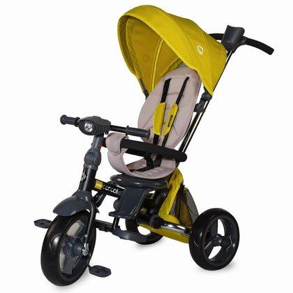 Coccolle - Tricicleta multifunctionala 4 in 1 cu sezut reversibil Velo Mustar
