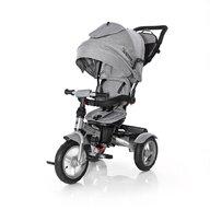 Lorelli - Tricicleta Neo Air Wheels Suport picioare, Control al directiei, Rotire 360 grade, Scaun reglabil Luxe, Gri