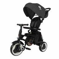 QPlay - Tricicleta Rito+ , Mecanism de pedalare libera, Control al directiei, Pliabila, Negru