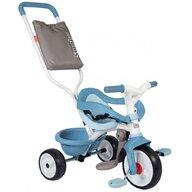 Smoby - Tricicleta Be Move Comfort Mecanism de pedalare libera, Suport picioare, Control al directiei, Albastru