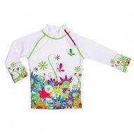 Tricou de baie Flowers marime 98-104 protectie UV Swimpy