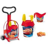 Mondo - Troller cu ghiozdanel Cars pentru copii cu jucarii plaja si galetusa