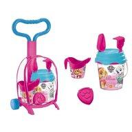 Mondo - Troller cu ghiozdanel Paw Patrol Girls pentru copii cu jucarii plaja si galetusa