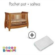 Tutti Bambini – Set patut + salteluta pentru bebelusi Lucas Oak