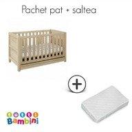 Tutti Bambini – Set patut + salteluta pentru bebelusi Milan Reclaimed Oak