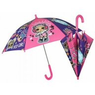 Umbrela manuala 42 cm, Cu inchidere cu siguranta LOL Surprise