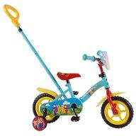 Volare - Bicicleta 10 inch cu roti ajutatoare si maner Teletubbies