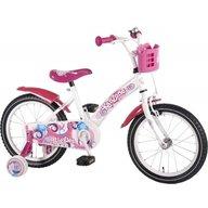Volare - Bicicleta copii fetite 16 inch cu roti ajutatoare si cosulet roz Kanzone Giggles