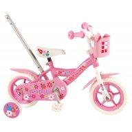 Volare - Bicicleta pentru fete 10 inch cu roti ajutatoare si cosulet Yipeeh