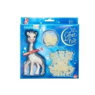 Vulli Girafa Sophie bleu in set pentru noapte
