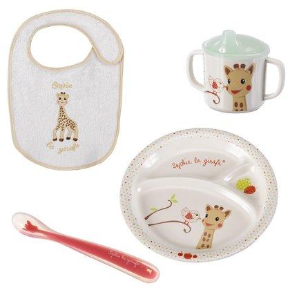 Vulli - Primul meu set pentru masa melamina Girafa Sophie & Kiwi cutie cadou