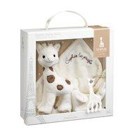Vulli - Set cadou Girafa Sophie Cherie si batistuta comforter