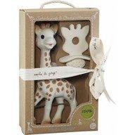 Vulli - Set Girafa Sophie si figurina din cauciuc pentru rontait So'pure