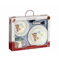 Vulli - Set pentru masa melamina Girafa Sophie baloane cutie cadou
