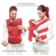 Wallaboo - Marsupiu ergonomic Easy comfort, Poppy Red