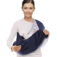 Wallaboo - Marsupiu Sling Cotton Stripe, True Blue