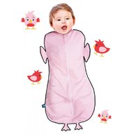 Wallaboo - Sac de dormit Fun Animal 2in1 chicky -0-3 luni, Pink