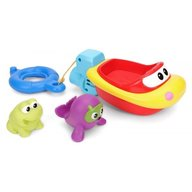 Winfun - Jucarie de baie pentru copii Barcuta cu 2 animale cauciuc