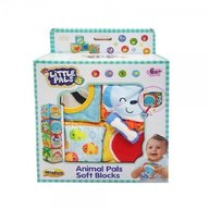 Winfun - Set 4 cuburi stivuibile din material textil multicolore pentru bebelusi