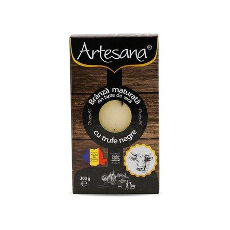 Branza maturata de vaca cu trufe negre 200 g- Artesana