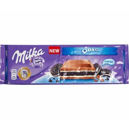 Ciocolata cu crema de lapte si biscuiti Oreo Milka 300g