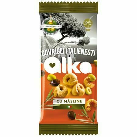 Covrigei italienesti cu masline Alka 100g