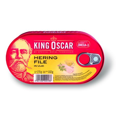 File hering in ulei - King Oscar 170g