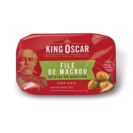 King Oscar macrou file fara piele in ulei 115gr