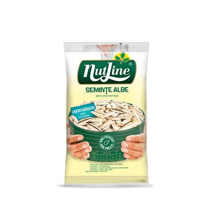 NUTLINE Seminţe albe de floarea soarelui prăjite şi uşor sărate 100g